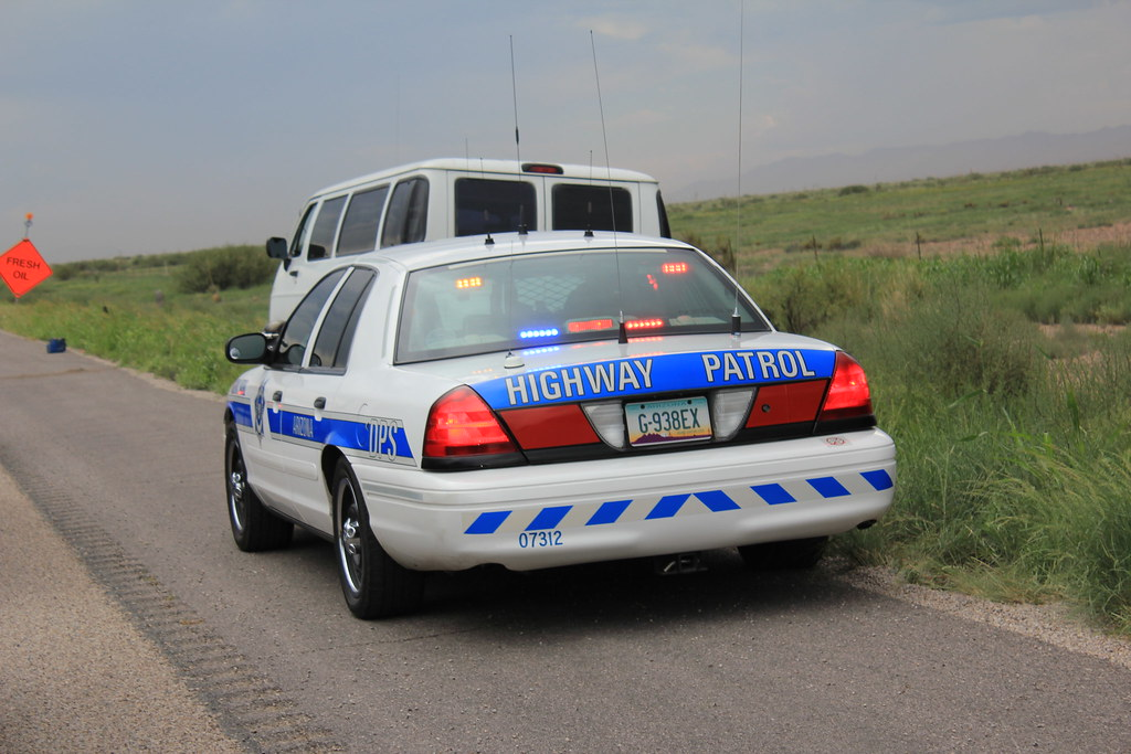 Ford Crown Arizona Highway Patrol  AHP patrol car at a road  Flickr