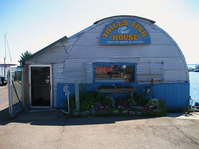 Thill 39 s fish house marquette michigan by stacy for Thill s fish house