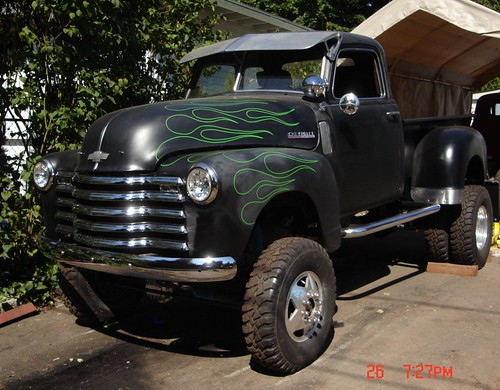 Old 1950 5 Window 4x4 1 Ton Dually 50 Chevy On A 77