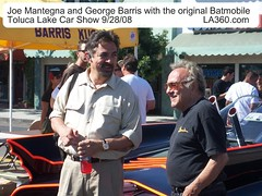 Joe Mantegna & George Barris with original Batmobile, Toluca Lake Car Show | by javazetti