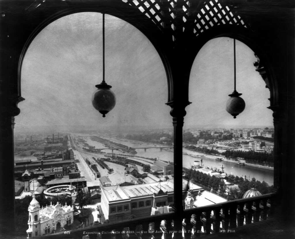 view of exposition universelle from eiffel tower paris 1. Black Bedroom Furniture Sets. Home Design Ideas