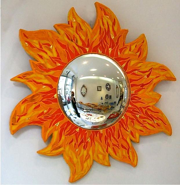 miroir soleil mosaique verre albertini toone flickr. Black Bedroom Furniture Sets. Home Design Ideas