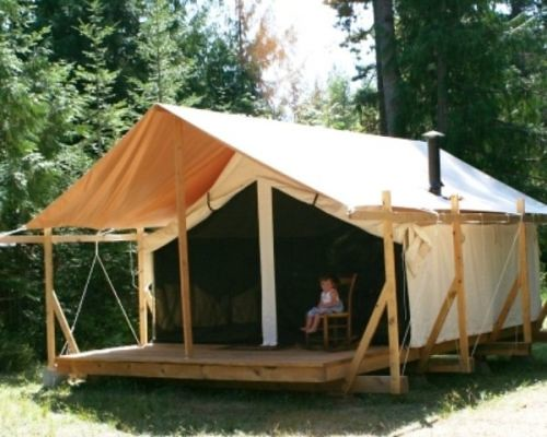 Canvas wall tent photo gallery 24 colorado yurt company for Homemade wall tent frame