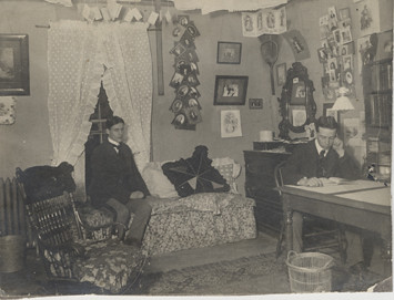 Two Male Students In Their Dorm Room At Old Wells Hall 19