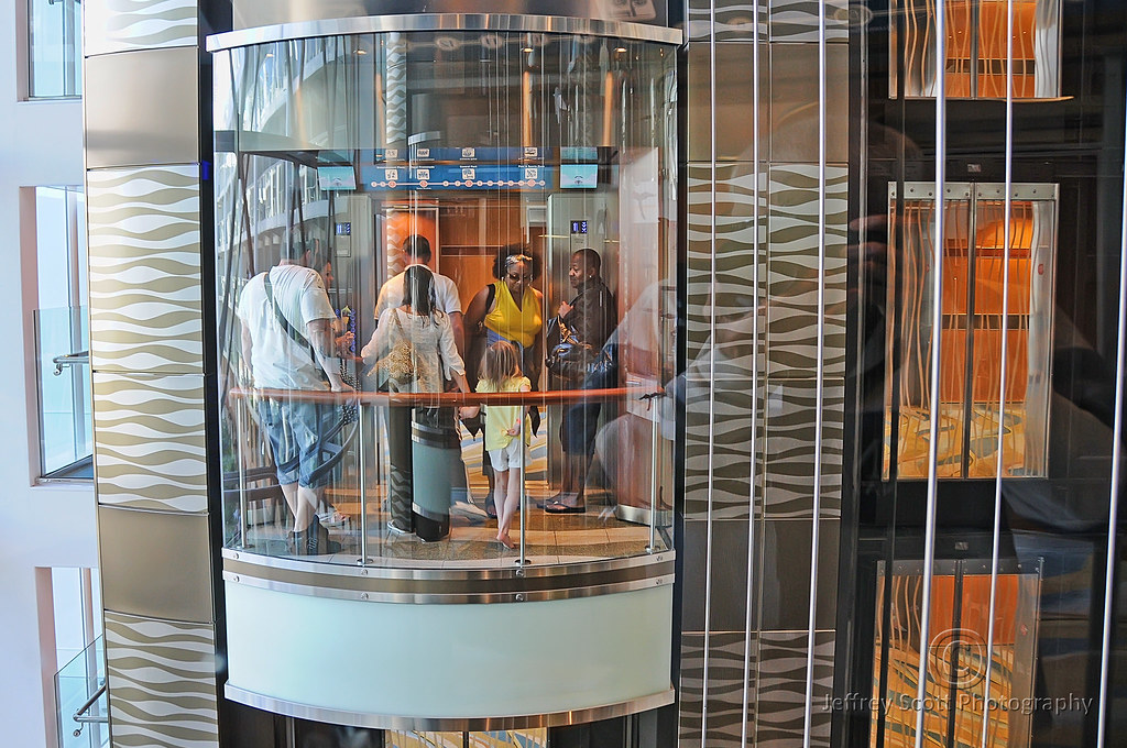 Cruise Ship Glass Elevator  A Photograph Of One Of The 20