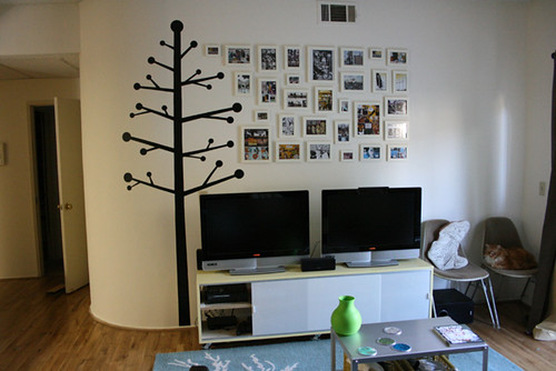 Living room i originally wanted to paint a large black for Indie home decor