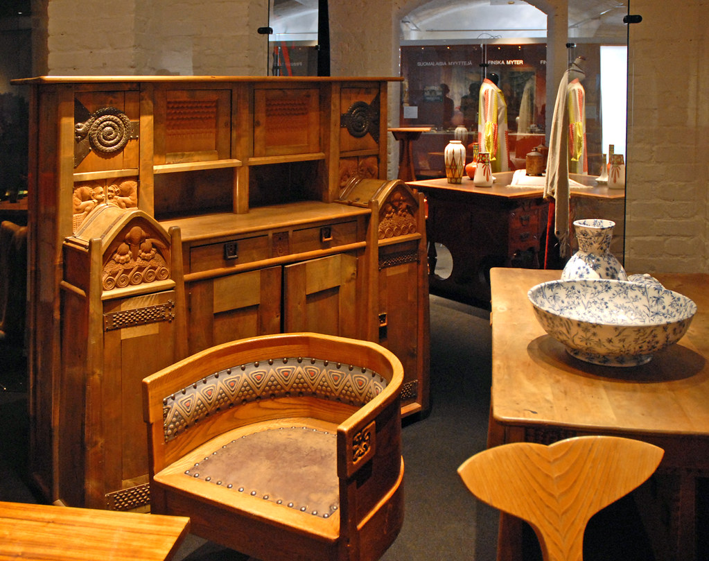 mobilier art nouveau finlandais mus e du design helsinki flickr. Black Bedroom Furniture Sets. Home Design Ideas