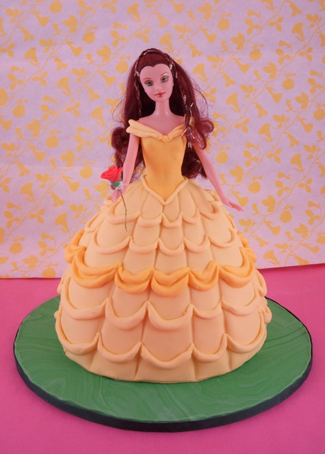 Belle doll cake Those flounces took for freaking ever Lisa Flickr