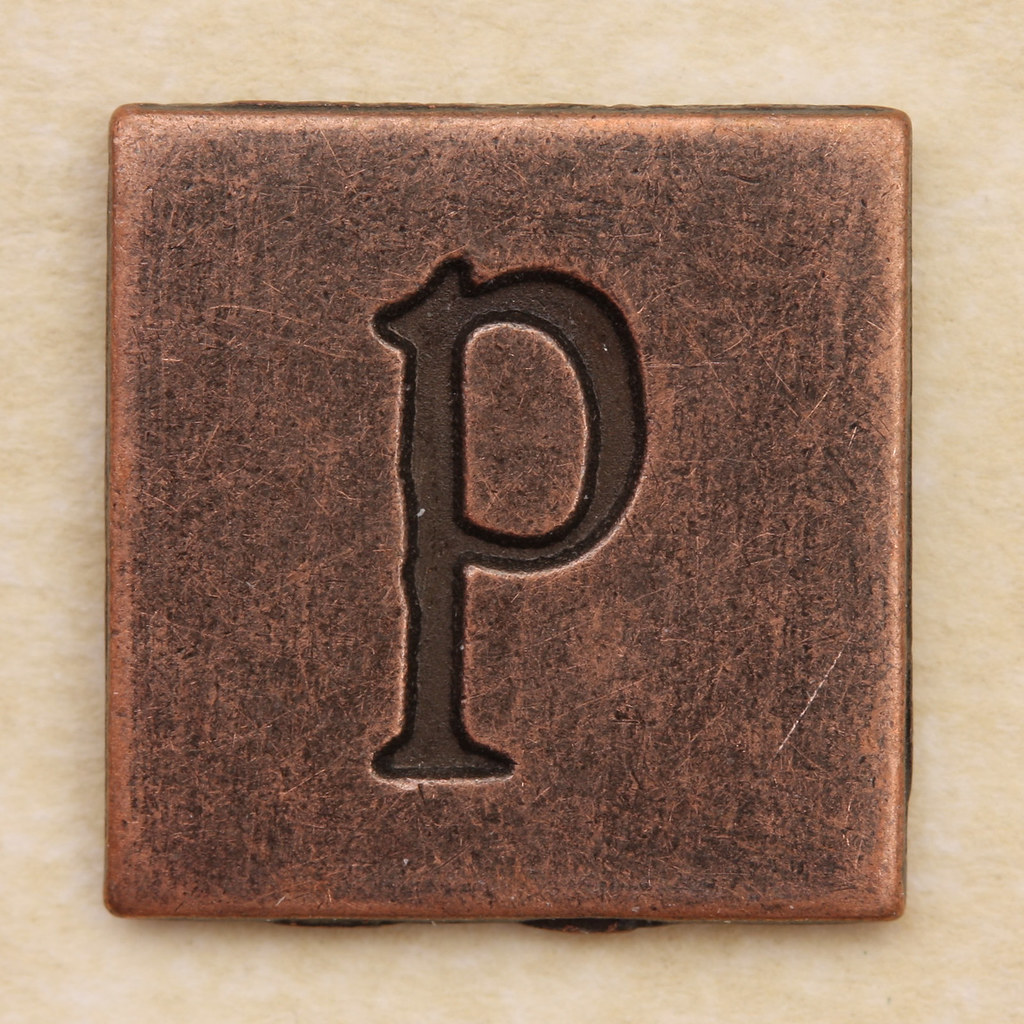 Copper Square Letter P