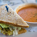 Salmon Bisque and Sandwich