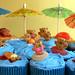 Bikini Beach Bear Cupcakes
