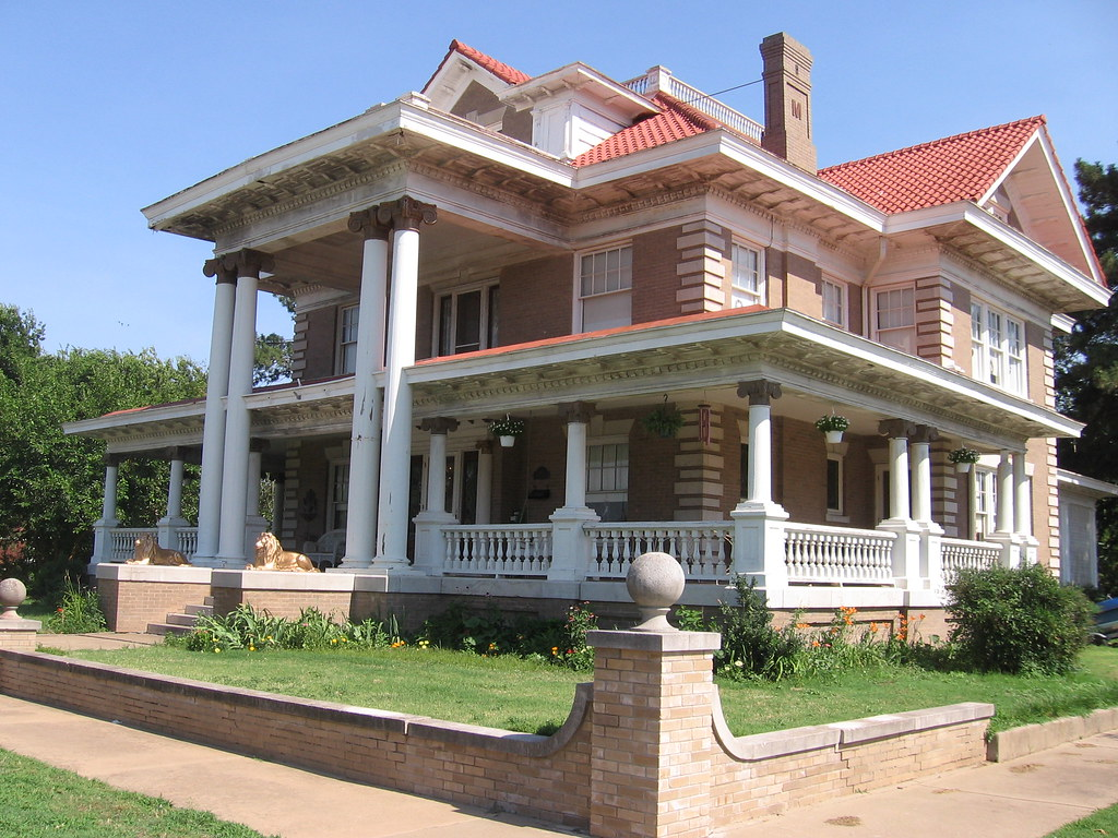 Mccristy knox mansion 1909 enid oklahoma this Building a house in oklahoma