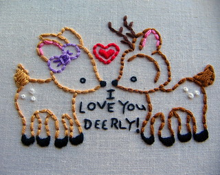 love you deerly | by stitchy stitcherson