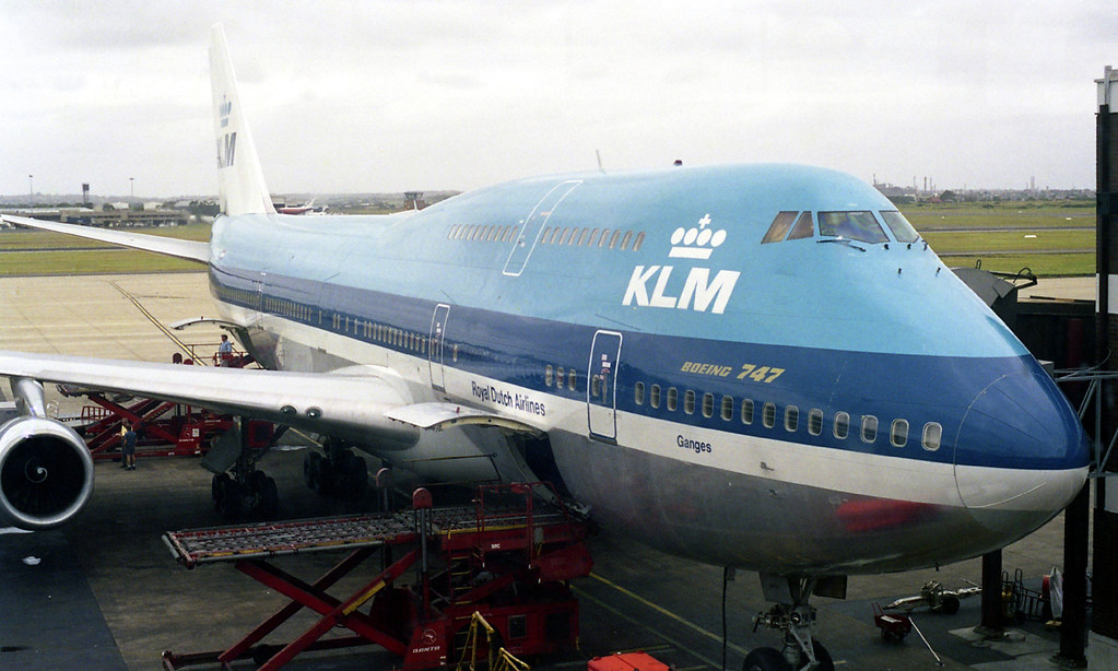 Klm Royal Dutch Airlines Boeing 747 Ph Bup Ganges Term