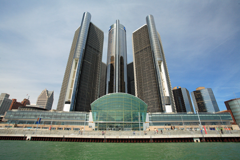 GM Renaissance Center in Detroit - setting for the 2014 VolunteerMatch Client Summit.