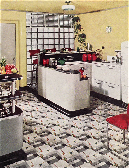 1940 yellow armstrong kitchen linoleum ads were some of th flickr. Black Bedroom Furniture Sets. Home Design Ideas