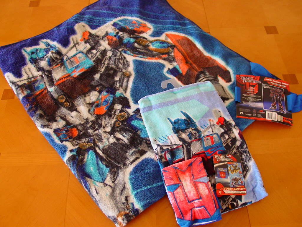 Transformers Blanket And Bath Towel Set A Fleece Throw