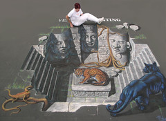 3D Street Painting - Jaguar Temple | by Tracy Lee Stum