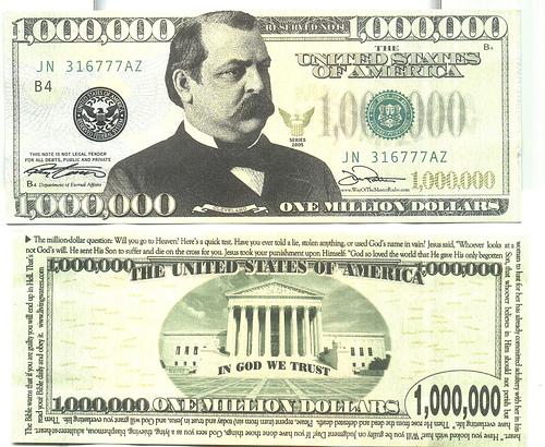 1000000 $1,000,... $1000000 Bill