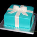 Tiffany blue package bridal shower cake