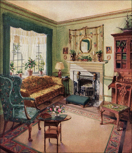 1929 living room karpen furniture flickr photo sharing for Antique home decoration