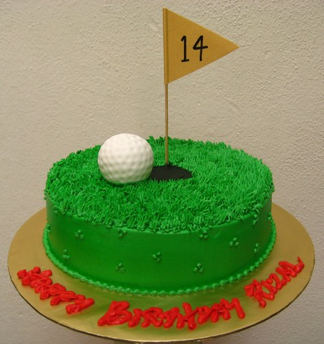 Cake Decorating Ideas Golf Theme : golf ball a VERY last minute cake. didnot have time to ...