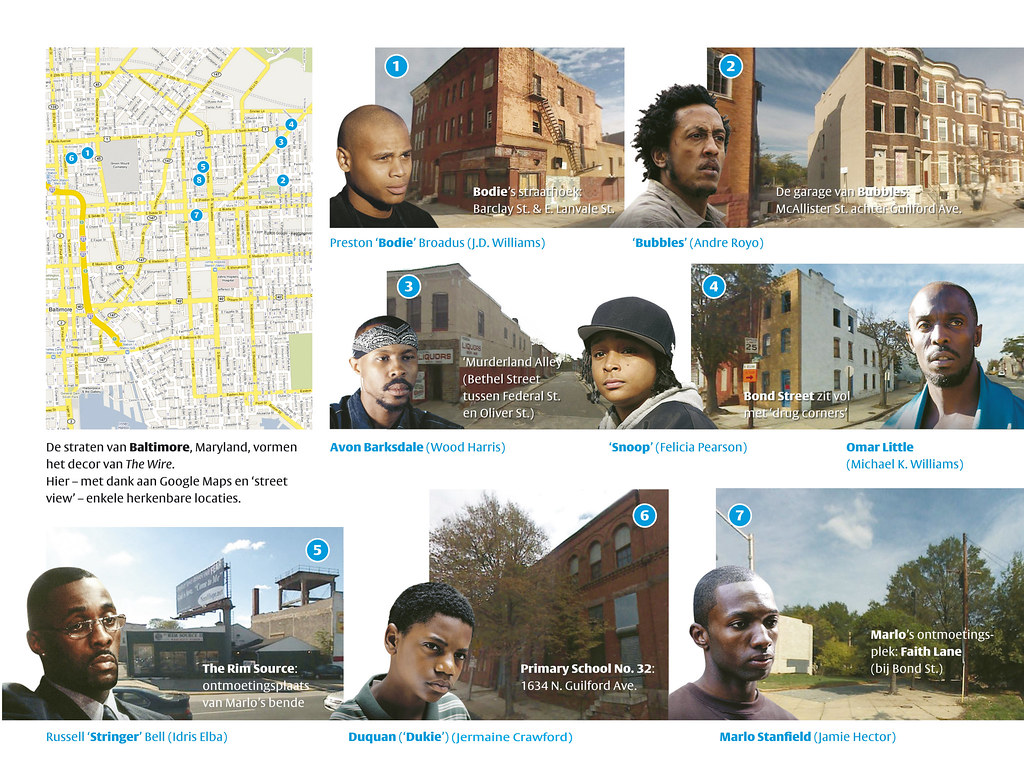 """The Wire"" locations, Baltimore 