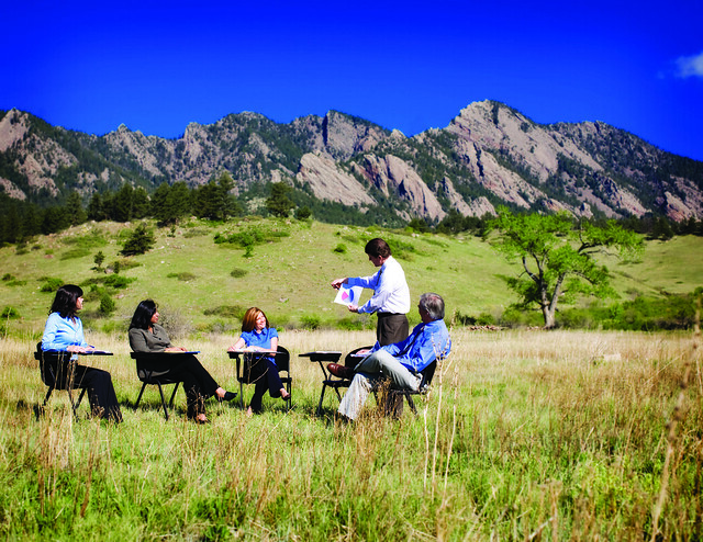 Office Now Outdoor Meeting Reinvigorate Work With Fresh