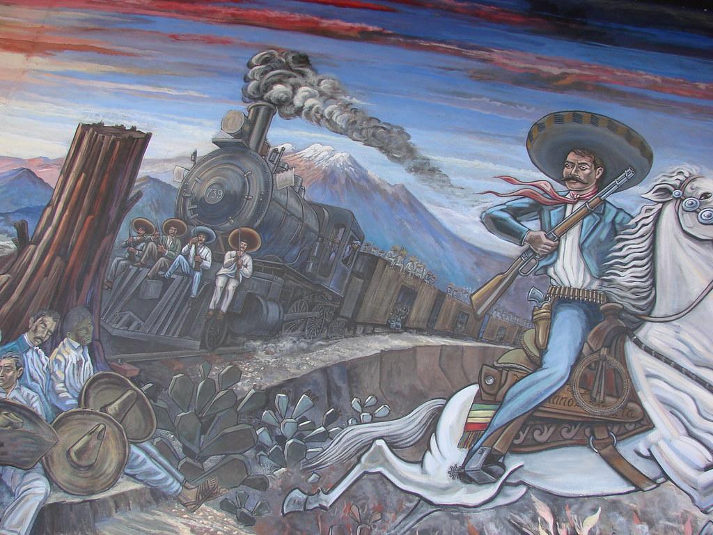 mural vida de emiliano zapata revolucion mexicana paz