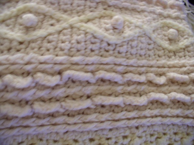 Crochet Fisherman Blanket Up Close View Craftymom2two Flickr