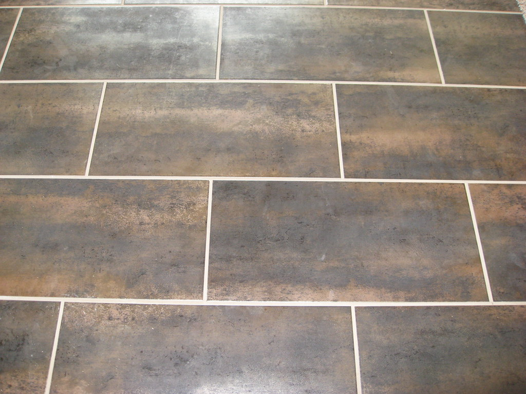 Dark Tile Light Grout Stone Solutions Metallic 12x24