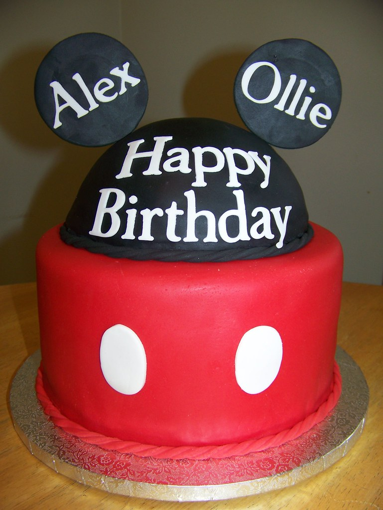 Mickey Mouse Cake This Is A Mickey Birthday Cake For
