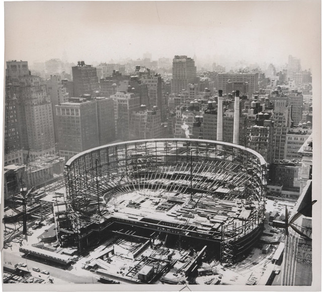 Madison Square Garden Construction 1966 Nyc Photoscream Flickr