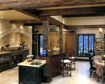 French Cottage Kitchen Island