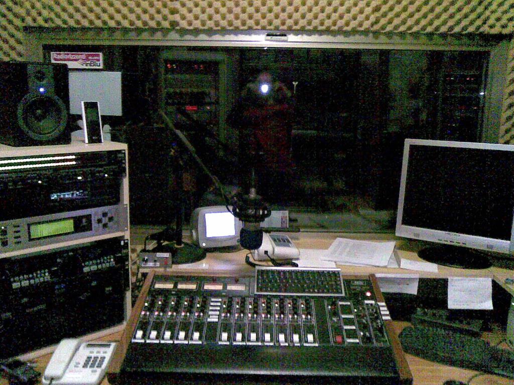 Radio Broadcast Studio | Console of Radio Broadcast Studio ...