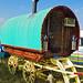 Traditional English Bow-top horse-drawn wagon
