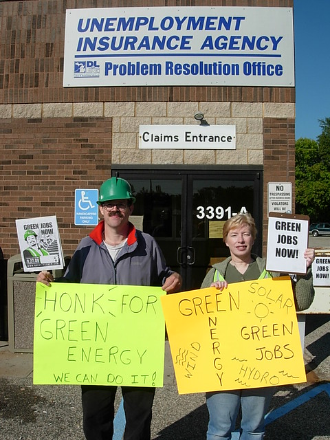 Green jobs now at our local unemployment office grand ra flickr - Michigan unemployment office ...
