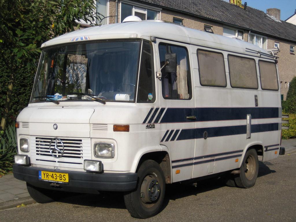 Mercedes benz l 409 camper old fbi car from the for Mercedes benz campervan usa