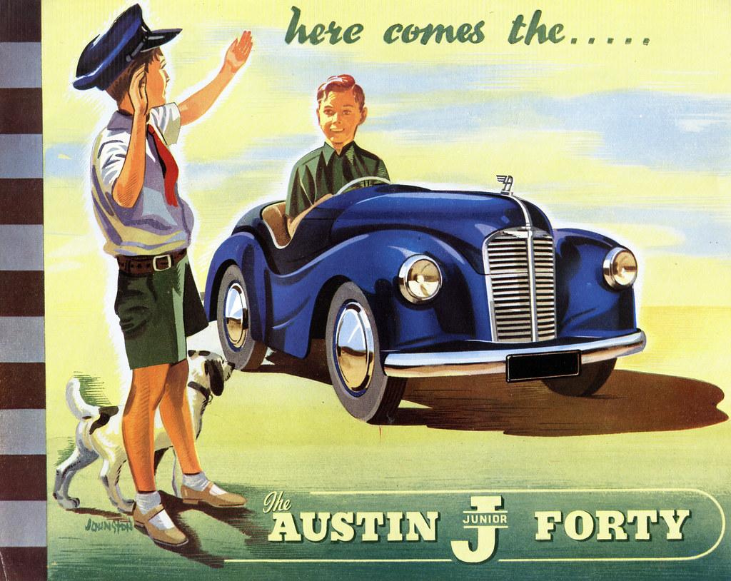 Austin j40 pedal car 328 365 vintage brochure for the for Brochure design austin