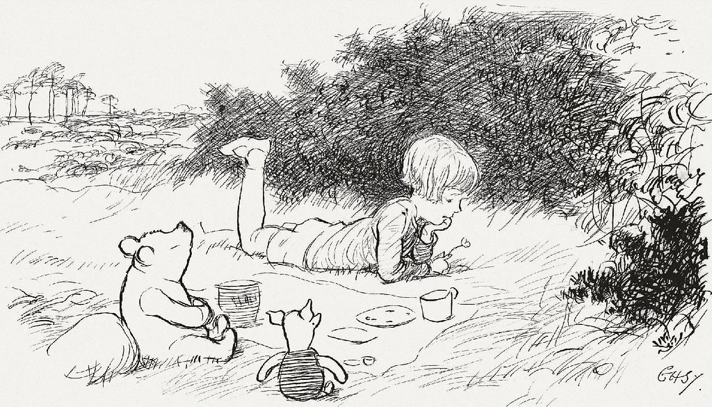 EH Shepard illustration from Winnie-the-Pooh