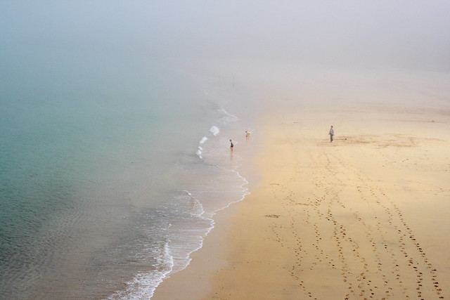 Porthminster, St Ives, Cornwall in the fog