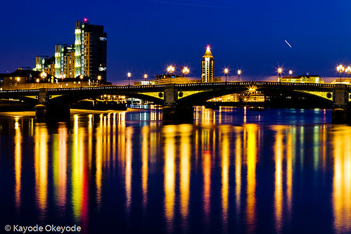 Day 128:  Battersea Bridge | by kayodeok