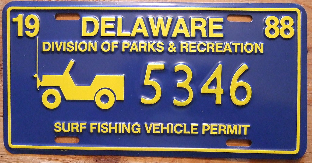 delaware 1988 surf fishing permit by 1988 these full