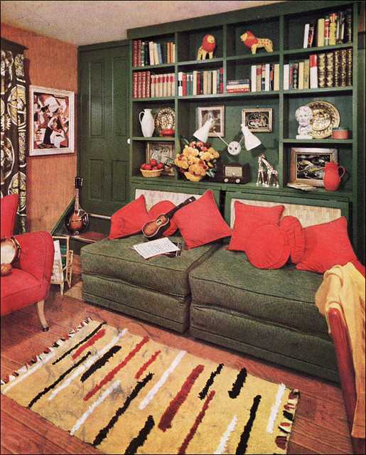 1950s Mid Century Den This Advertisement Ran In A 1953
