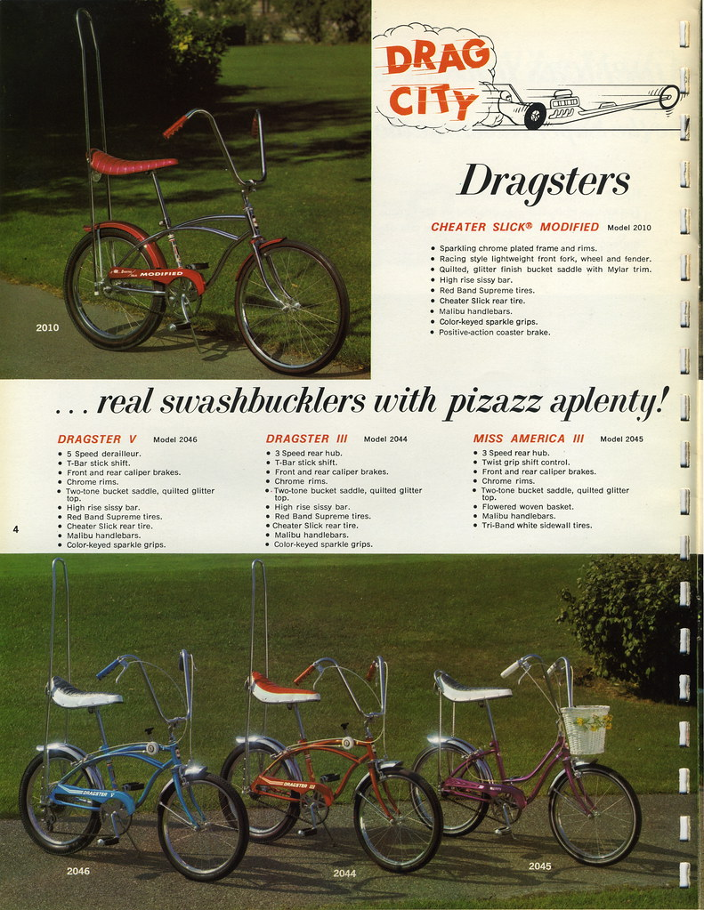1968 Huffy Bicycle Dealer Catalog Page 4 The Drag City