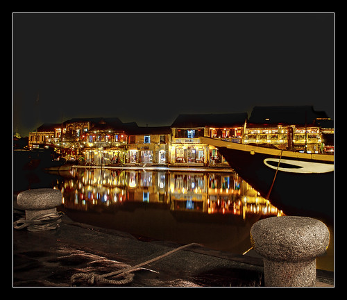 river, boat and the reflecting lanterns (revisited) | by PNike (Prashanth Naik..back after ages)