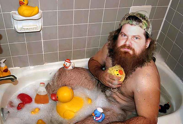 Naked men with a rubber ducky photo 21