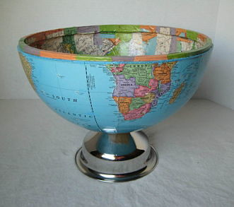 Half the World, Upcycled Globe Bowl | I used a broken ...