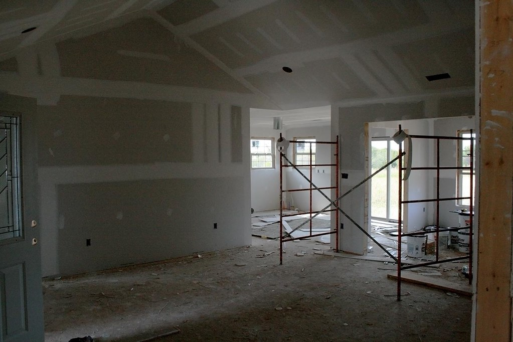 Drywall Is Up So Here S The Great Dining Room Kitchen
