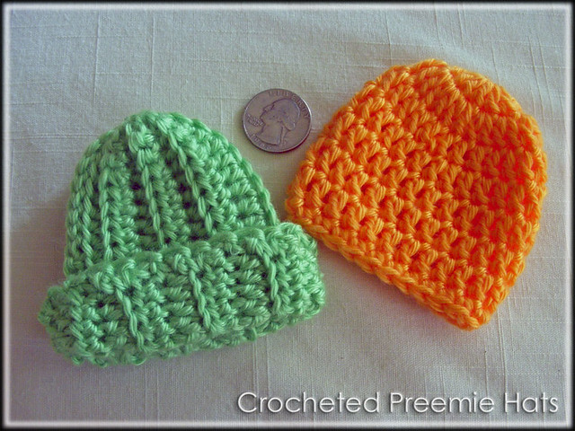 Free Crochet Pattern Preemie Cap : Micro Preemie Hats Micro preemie hats from patterns ...